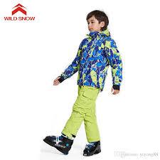 2019 <b>WILD SNOW Boys</b>/<b>Girls</b> Ski Suit Windproof Snow Jacket Of ...