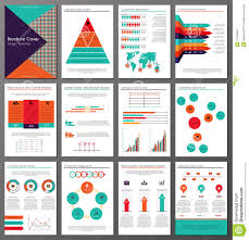 infographic brochure and flyer design templates set stock vector infographic brochure and flyer design templates set