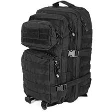 Mil-Tec MOLLE <b>Tactical</b> Assault <b>Backpack</b> - Large 36 Litre (Black ...