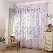 Sheer Voile Curtains для спальни Кухня 1PC оконная занавеска ...