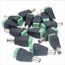 <b>5 Pair</b> 5.5*2.1 <b>DC</b> Power Male <b>Plug Jack Adapter Connector Plug</b> for ...