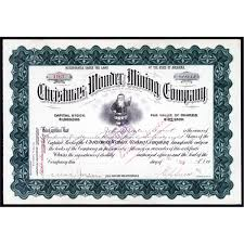 christmas wonder mining stock certificate