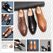 Men's Fashion <b>Business Leather</b> Shoes Casual Large Size Shoes ...
