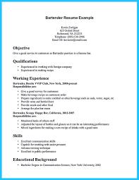 impressive bartender resume sample that brings you to a bartender job    best bartender resume sample and bartender sample resume