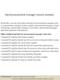 top8procurementmanagerresumesamples 150426010231 conversion gate02 thumbnail 4 jpg cb 1430010618