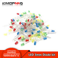 5Colors*20PCS=<b>100PCS 3mm LED diode</b> Light Assorted Kit Red ...
