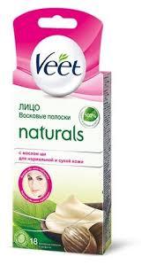 Veet <b>Восковые полоски</b> Naturals с маслом ши для лица для ...