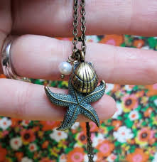 Under the Sea. <b>Starfish shell</b> and <b>pearl</b> green by oldskooljunk ...