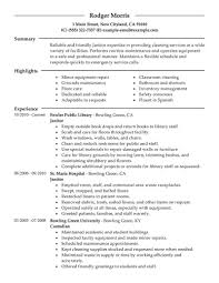 janitor resume cover letter cipanewsletter 607785 janitor cover letter for resume best sample resumes