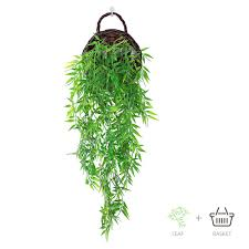 ANZOME Hanging <b>Artificial Plants</b>, 2.7ft Faux Hanging <b>Bamboo</b> ...