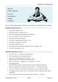 teachit key stage 3 reading skills resources mr scil s reading skills
