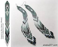 """Cхема <b>серег</b> """"Шёпот травы"""" - мозаичное плетение   Образцы ..."""