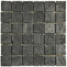 quot outdoor slate stone mosaic dining