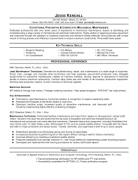 sample resume electronics technician  seangarrette cosample