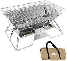 XTBB <b>BBQ Grill Large</b> Stainless Steel <b>BBQ Grill Foldable Barbecue</b> ...