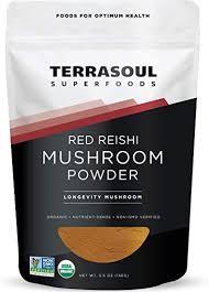 Red <b>Reishi</b> Mushroom Powder <b>4</b>:<b>1</b> Extract (Organic), 5.5-Ounce ...