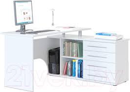 <b>Сокол</b>-Мебель <b>КСТ</b>-<b>109</b> (правый, белый) <b>Компьютерный стол</b> ...