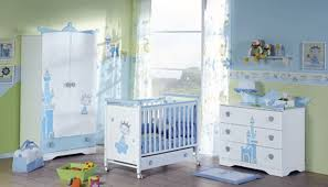 affordable blue accent baby nursery furniture set with rolling baby crib and 3 drawer dresser blue nursery furniture