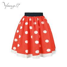 2019 <b>Spring Autumn Girls</b> Sweet Polka Dot Skirt <b>Black</b> Red White ...