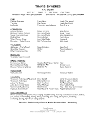 acting resume template word job resume samples acting resume template word