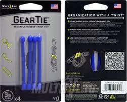 Купить <b>гибкие стяжки Nite</b> Ize Gear Tie 7см синего цвета на сайте ...