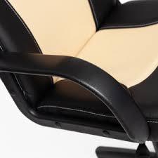 <b>Кресло</b> компьютерное <b>TetChair Парма</b>, black/beige искусственная ...