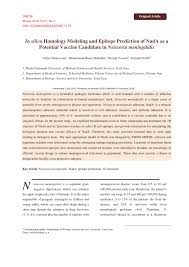 (PDF) In silico Homology Modeling and Epitope Prediction of <b>NadA</b> ...