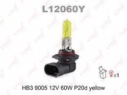 <b>Лампа HB3</b> 12V <b>60W</b> P20d (9005) YELLOW желтая (Lynx ...