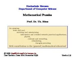 Mathematical Fun, Games and Puzzles - PDF Free Download