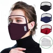 NEW Cotton Mask Dustproof Protective Mask with Eyes Shield - Vova
