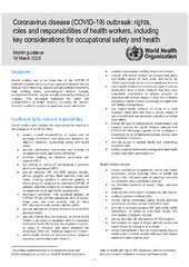 Coronavirus disease (COVID-19) outbreak: rights,roles and ...