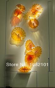 free shipping murano blown glass hot sale chandelier with led bulbs