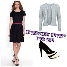 the indigo hours beauty lifestyle get dressed for less interview outfit 50 · black knit dress