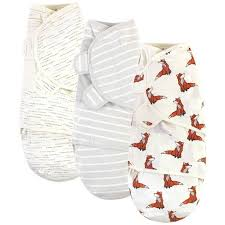 Touched By Nature Unisex Baby Organic Cotton Swaddle Wraps ...