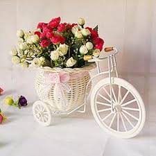 beautiful tricycle barrowload woven star grass artificial flower set decorative flowers free shipping