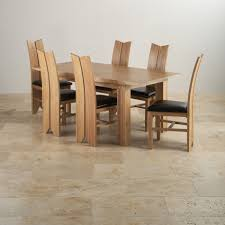 Genuine Leather Dining Room Chairs The Tokyo Range Natural Solid Oak Furniture