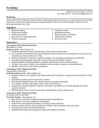 journeymen hvac sheetmetal workers resume sample hvac resume objective hvac technician sample resume