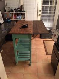 leaf kitchen cart: add butcher block on hinges to kitchen cart new look for my home pinterest stove solid wood kitchens and good ideas