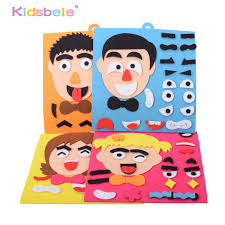 <b>DIY Toys</b> Emotion Change Puzzle <b>Toys</b> 30CM*30CM <b>Creative</b> ...