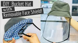 DIY: Bucket <b>Hat</b> with <b>Removable Face Shield</b>! - YouTube