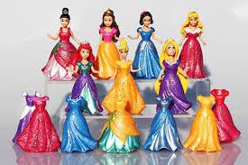 14Pcs/<b>Set</b> Princess <b>Snow White Ariel Belle</b> Rapunzel <b>Aurora</b> Action ...