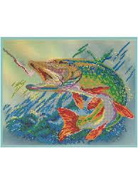 Набор для вышивания бисером Светлица <b>Рыба на крючке</b> бисер ...