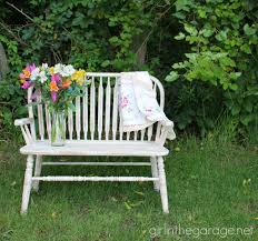 weathered wood bench makeover with annie sloan chalk paint in old ochre girlinthegaragenet bench painted chalk paint