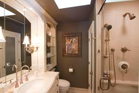 extraordinary luxury brown small master bathroom ideas with free standing chrome steam shower and built in bathroom track lighting master bathroom ideas