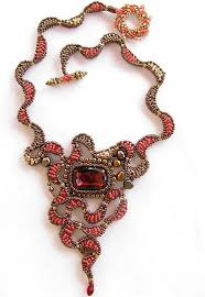 Red Dragon Eye <b>necklace</b> | Beaded jewelry, <b>Bead</b> work jewelry ...
