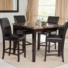 Marble Dining Room Sets Factory New Faux Marble Dining Set 5 Piece Table Counter Height