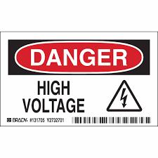 Brady Part: 131705   <b>DANGER High Voltage</b> Sign   BradyCanada.ca