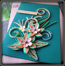 hanezz art card d quilling congratulations on your promotion sir lecturer to congratulate him on his promotion to head of department she said she really like my previous green orange card so made another one for her