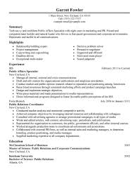 public relations resume objective cipanewsletter objective public relations resume objective