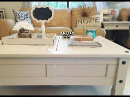 diy chalk paint coffee table makeover tutorial chalk paint coffee table